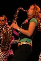 Ellen op saxofoon